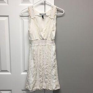 Beige and white dress, BCBG Maxazria, XS